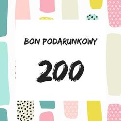 bon podarunkowy o wartości 200 zł, ekspresowy prezent
