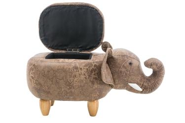 Pufa ze schowkiem słoń szymon brązowa