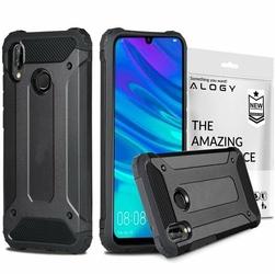 Etui Alogy Hard Armor do Xiaomi Redmi Note 7 Pro czarne + szkło Full Glue - Czarny