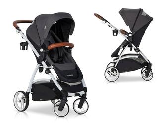 Easygo optimo anthracite wózek do 22 kg z obracanym siedziskiem + torba dla mamy gratis