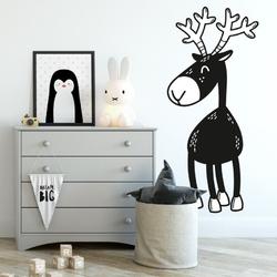 Naklejka na ścianę - cute deer , wymiary naklejki - szer. 90cm x wys. 180cm