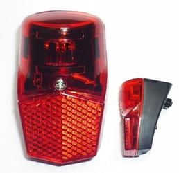 Lampa tylna xc-114d led 6v-0,6w na błotnik do prądnicy z odblaskiem
