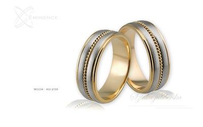 Obrączki ślubne - wzór au-239