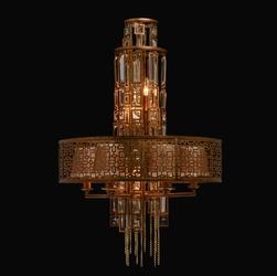 Okrągła lampa wisząca w stylu loftowym regenbogen loft miedź 185010310