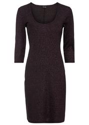 Sukienka z połyskiem bonprix czarno-lila metaliczny