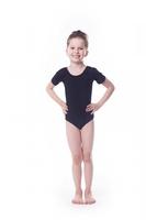 Body gimnastyczne lycra b1 krótki rękaw shepa