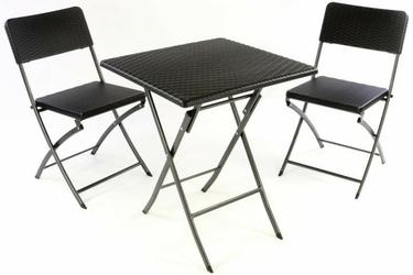 Zestaw mebli polirattanowych składanych 2 krzesła + stół