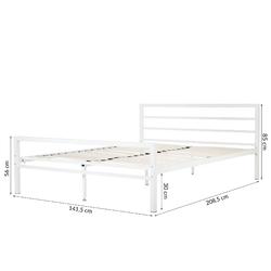 Łóżko metalowe eveline 140x200 białe