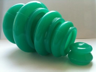 Bańki silikonowe zielone - komplet 4 sztuki