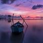 Zachód słońca nad oceanem - plakat wymiar do wyboru: 80x60 cm