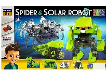 Zestaw naukowy robot solarny 4w1 pająk