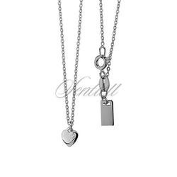 Srebrny naszyjnik pr.925  zawieszką serduszkiem i cyrkonią