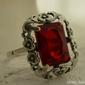 Manuela - srebrny pierścionek z rubinem