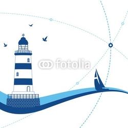 Obraz na płótnie canvas dwuczęściowy dyptyk latarnia morska
