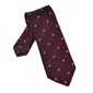 Elegancki bordowy krawat van thorn z grenadyny w kwadraty