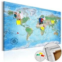 Obraz na korku - tradycyjna kartografia mapa korkowa