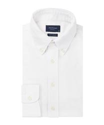 Biała koszula męska z dzianiny slim fit xxl