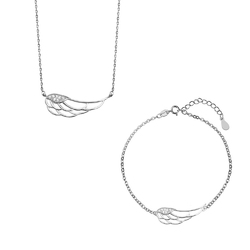 komplet biżuteriipuro amorerodowane srebro 925