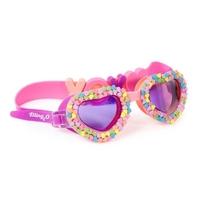 Okulary do pływania, cukierkowe serca, bling2o