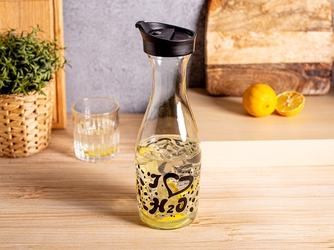 Karafka szklana na wodę i sok z pokrywą altom design 1000 ml czarna