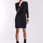 Marszczona sukienka z koronką czarna