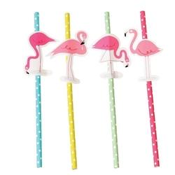Słomki papierowe 4 szt., flamingo bay, rex london - flamingo bay