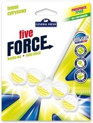 General fresh, five force, cytryna, zawieszka do toalety, 50g