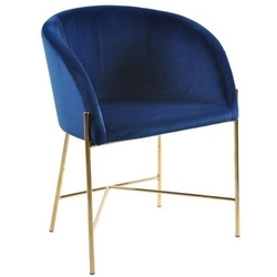 Designerskie krzesło na złotej podstawie nelson vic