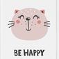Plakat be happy 21 x 30 cm