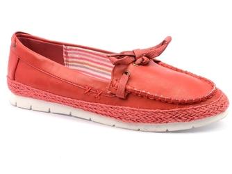 Półbuty monnari but0580-005 czerwony
