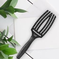 Olivia garden finger brush combo medium, szczotka do opornych i grubych włosów z włosiem dzika