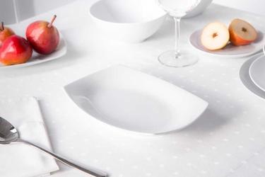 Półmisek  rawier porcelana mariapaula moderna biała 24 cm prostokątny