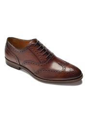 Eleganckie brązowe skórzane buty męskie typu brogue van thorn 39