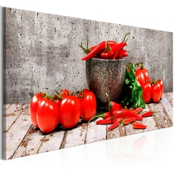Obraz - czerwone warzywa 1-częściowy beton wąski