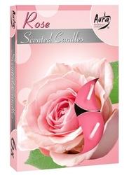 Bispol, rose, podgrzewacze zapachowe, 6 sztuk