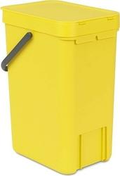 Kosz do segregacji odpadów sort  go 12 l żółty