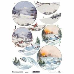 Przekładka do bombki akrylowej - motyw zimowy 3D - motyw zimowy