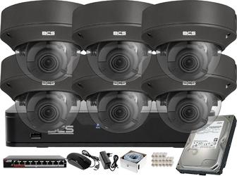 Monitoring wideo audio kasy stacji paliw sklepu bcs point rejestrator ip 6x kamerabcs-p-262r3wsa-g akcesoria