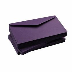Koperta DL - fioletowy śliwkowy 120 g - fioletowy śliwkowy