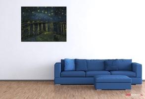 gwiaździsta noc nad rodanem - vincent van gogh ; obraz - reprodukcja