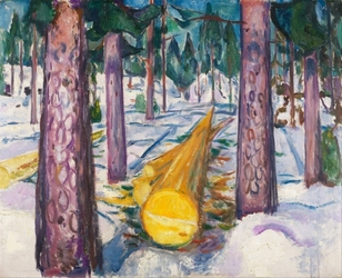 Reprodukcja the yellow log, edvard munch