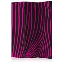 Parawan 3-częściowy - zebra pattern fioletowy room dividers