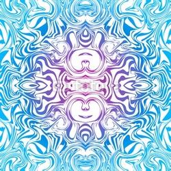 Obraz na płótnie canvas dwuczęściowy dyptyk psychodeliczny szwu tranzytu abstrakcyjny wzór w kolorze niebieskim