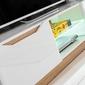Meblościanka z oświetleniem led fame biały połysk  dąb artisan