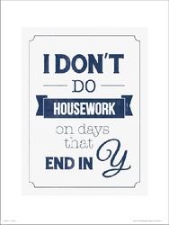 Typographic dont do housework - plakat premium