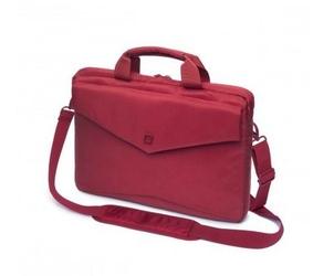DICOTA Code Slim Case 15 Red - czerwona torba na Macbook 15 notebook 14.1 i tablet do 10