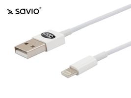 Elmak kabel ze złączem usb - 8pin, ios, do telefonów 5,6,7,8,x,xr,xs savio cl-64 10szt. paczka, 1 m