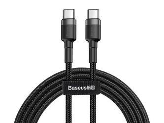 Baseus kabel cafule 2x usb-c qc 3a 2m pd black - czarny