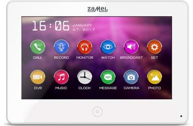 Monitor wideodomofonu zamel 7 vp-809w - możliwość montażu - zadzwoń: 34 333 57 04 - 37 sklepów w całej polsce