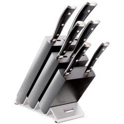 Blok z 6 nożami czarny Wusthof Classic Ikon W-9876